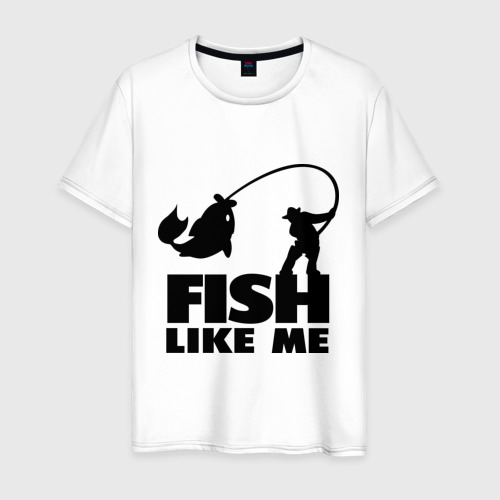 Мужская футболка хлопок Fish like me.