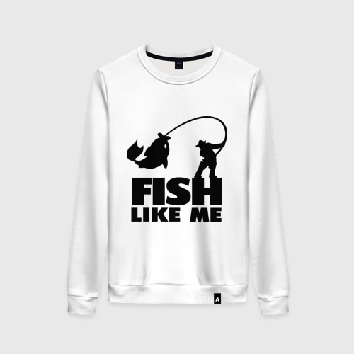 Женский свитшот хлопок Fish like me.
