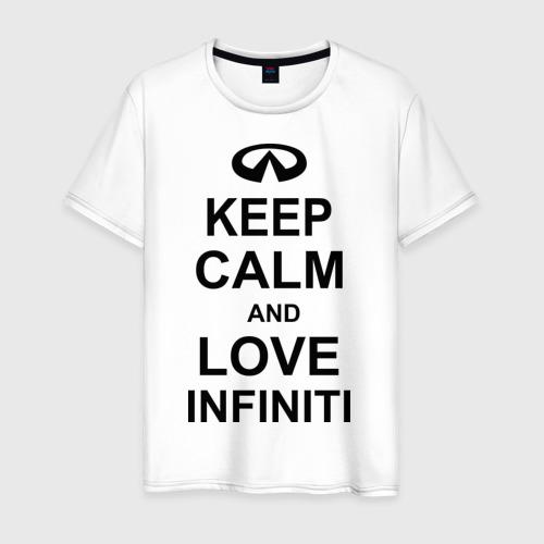 Мужская футболка хлопок keep calm and love infiniti