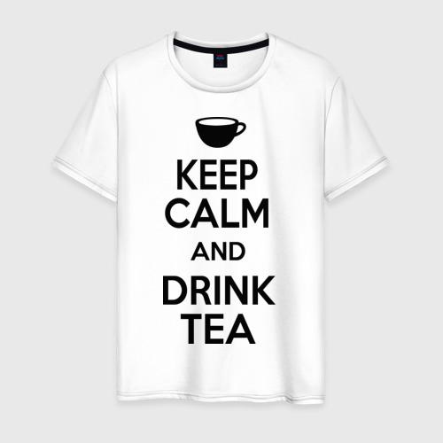 Мужская футболка хлопок Keep calm and drink tea