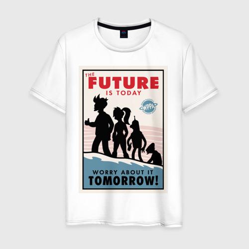 Мужская футболка хлопок Futurama poster