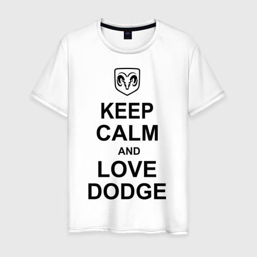 Мужская футболка хлопок keep calm and love dodge