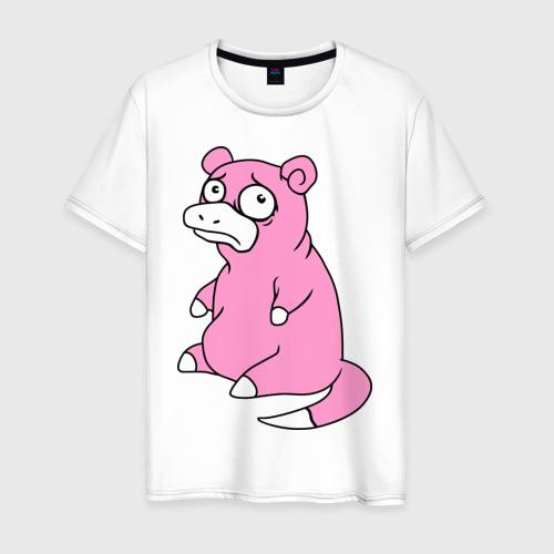 Мужская футболка хлопок Грустный слоупок