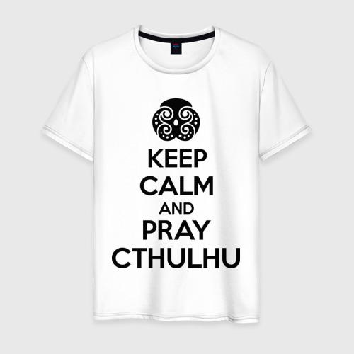Мужская футболка хлопок Молись Ктулху