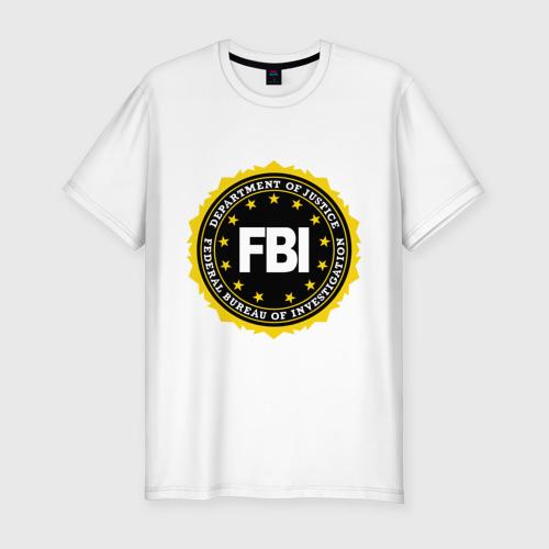 Мужская футболка хлопок Slim FBI