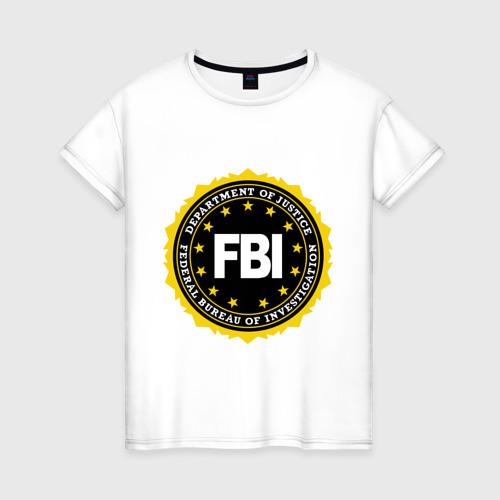 Женская футболка хлопок FBI