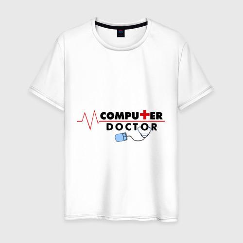 Мужская футболка хлопок computer doctor