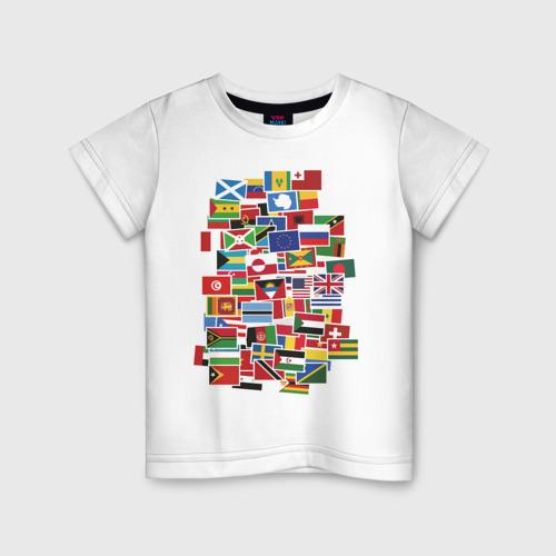 Детская футболка хлопок Flag sticker bombing