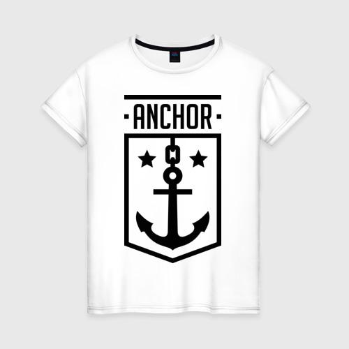 Женская футболка хлопок Anchor Shield