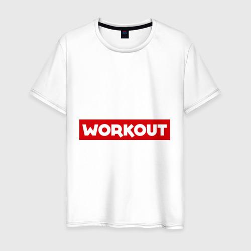Мужская футболка хлопок Obey workout