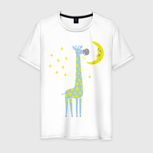 Мужская футболка хлопок Сказочный жираф