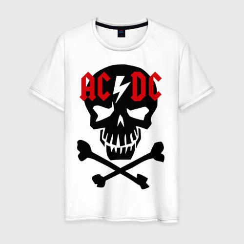 Мужская футболка хлопок ACDC skull