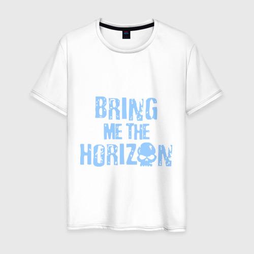 Мужская футболка хлопок Bring me the horizon череп