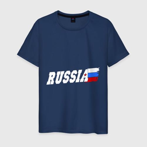 Мужская футболка хлопок Russia (Россия)