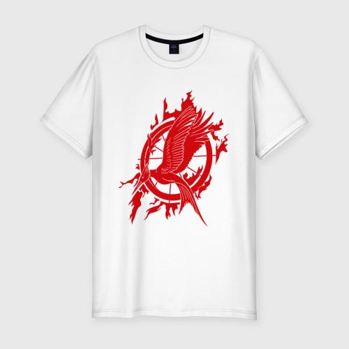 Мужская футболка хлопок Slim Логотип птица