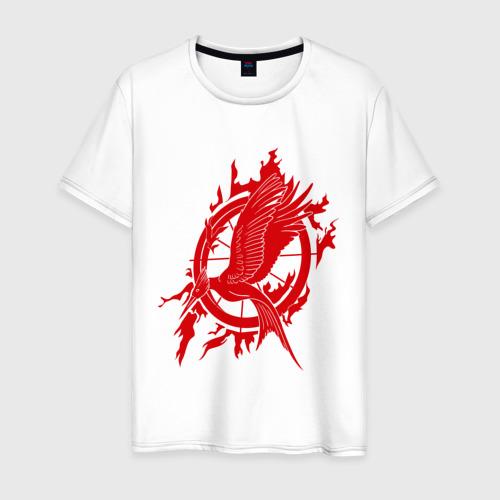 Мужская футболка хлопок Логотип птица