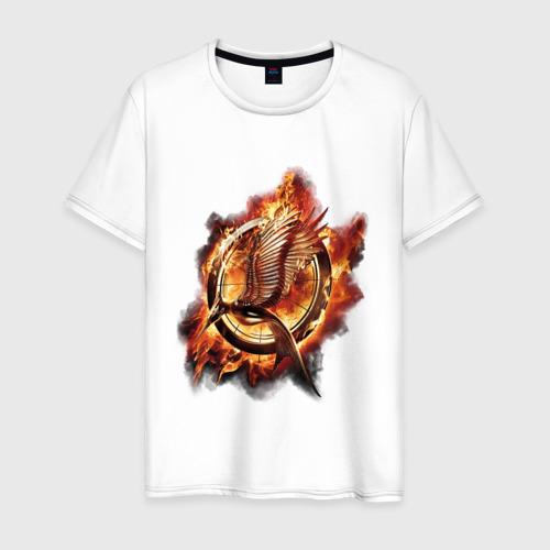Мужская футболка хлопок Пламя