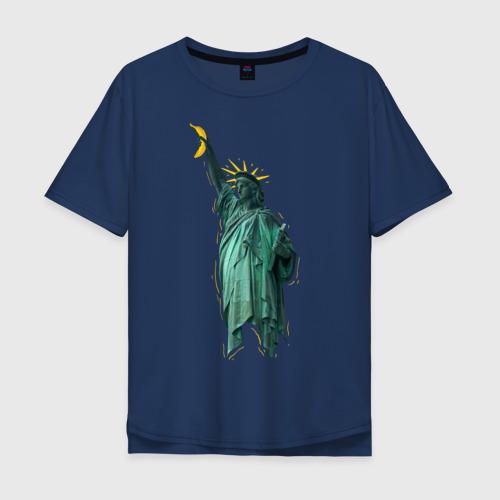 Мужская футболка хлопок Oversize Статуя свободы
