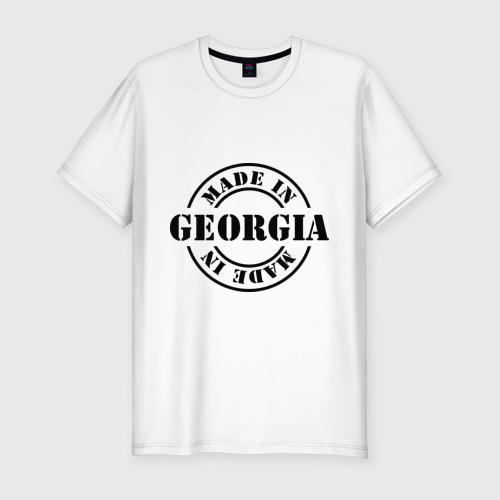 Мужская футболка хлопок Slim Made in Georgia (сделано в Грузии)