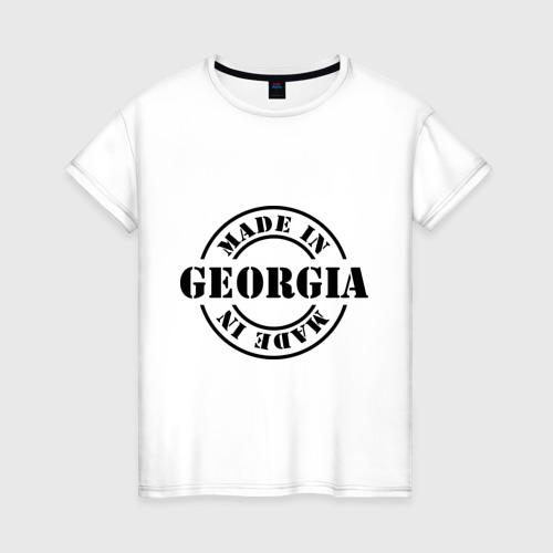 Женская футболка хлопок Made in Georgia (сделано в Грузии)
