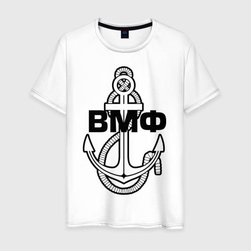 Мужская футболка хлопок ВМФ Якорь