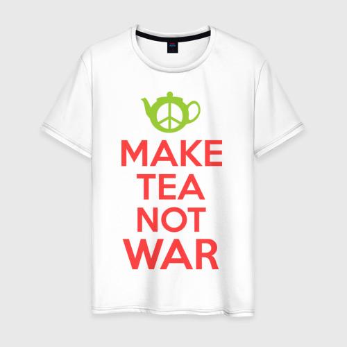 Мужская футболка хлопок Make tea not war