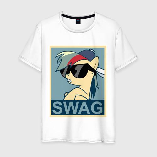 Мужская футболка хлопок Rainbow Dash swag