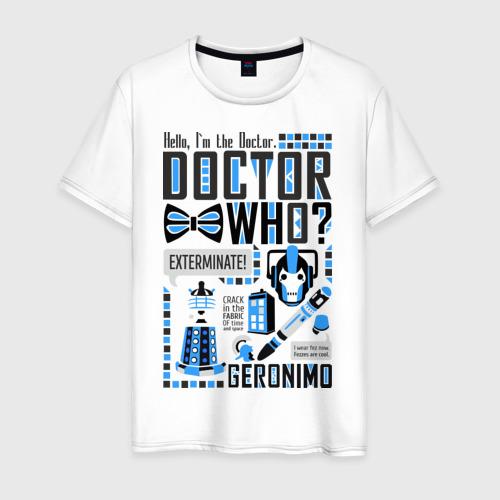 Мужская футболка хлопок Доктор Кто