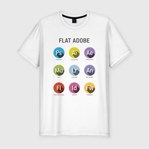 Мужская футболка хлопок Slim Flat Adobe
