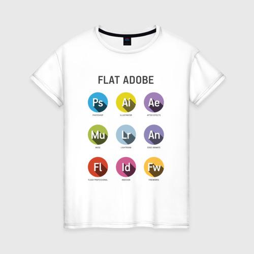 Женская футболка хлопок Flat Adobe