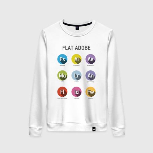 Женский свитшот хлопок Flat Adobe