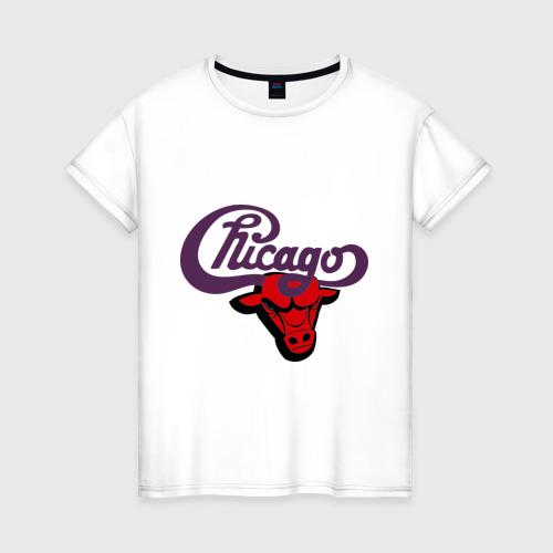 Женская футболка хлопок Чикаго Булс Chicago bulls