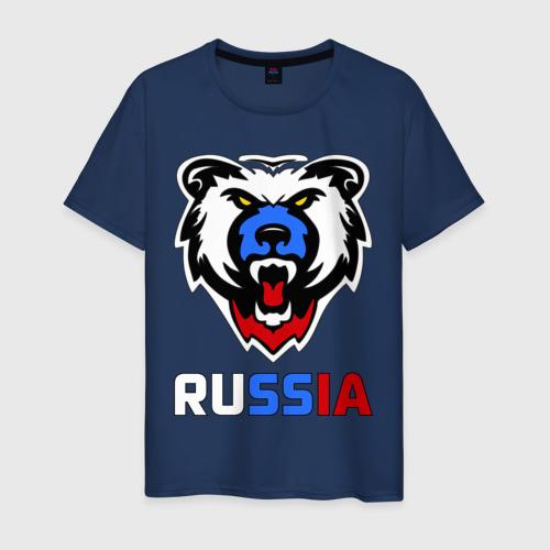 Мужская футболка хлопок Русский медведь