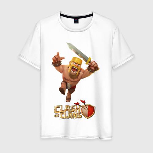 Мужская футболка хлопок Clash of clans barbarian