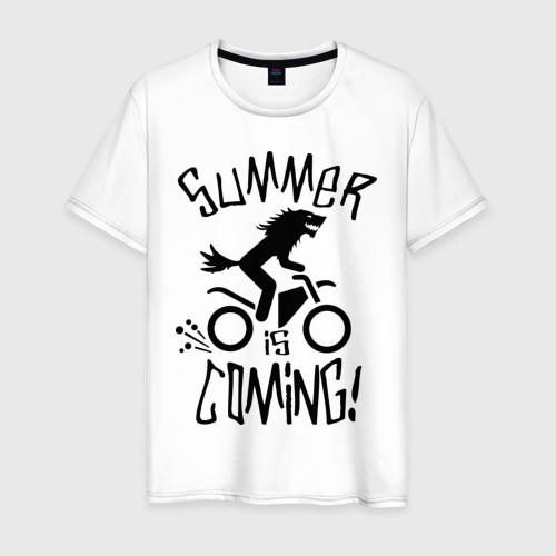 Мужская футболка хлопок лето близко