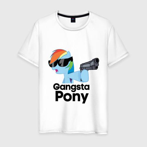 Мужская футболка хлопок Gangsta pony