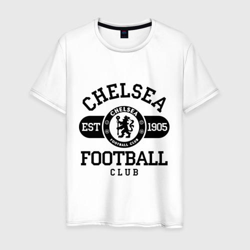 Мужская футболка хлопок Chelsea футбольный клуб