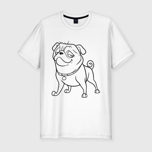 Мужская футболка хлопок Slim Мопс