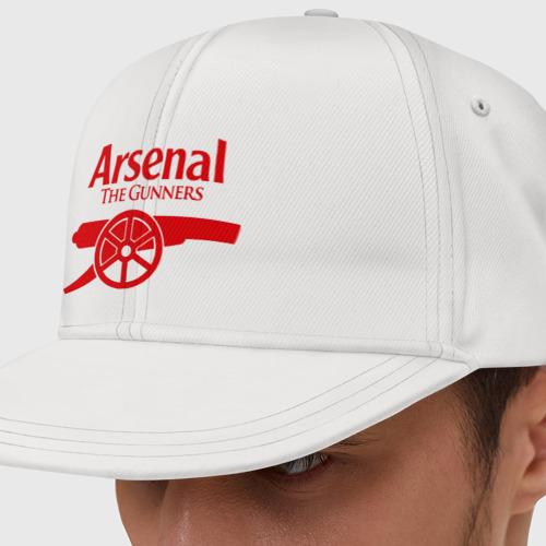 Кепка снепбек с прямым козырьком Arsenal