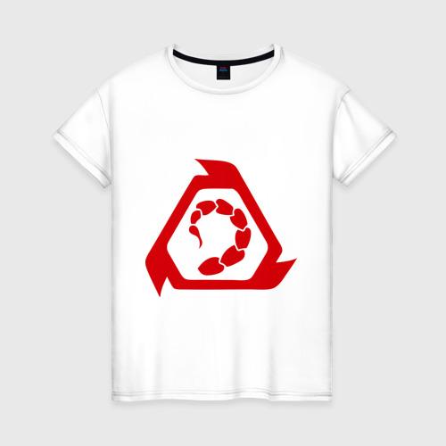 Женская футболка хлопок Сommand & conquer Brotherhood