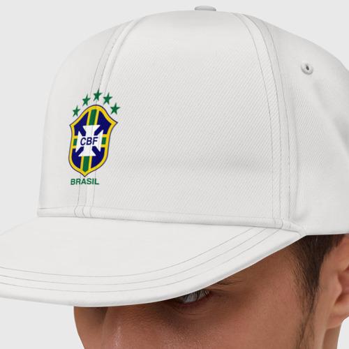 Кепка снепбек с прямым козырьком Сборная Бразилии по футболу