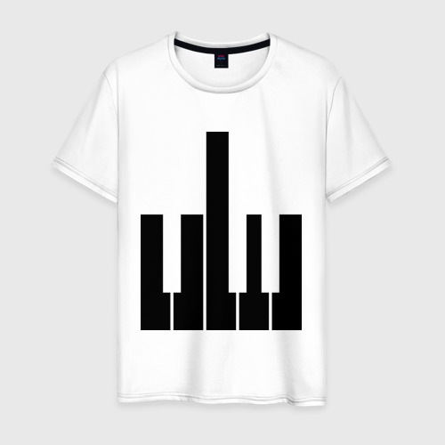 Мужская футболка хлопок Fuck your music!