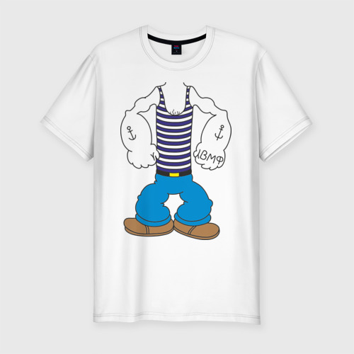 Мужская футболка хлопок Slim Костюм морячка