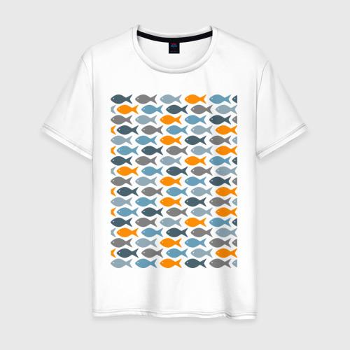 Мужская футболка хлопок Рыбки
