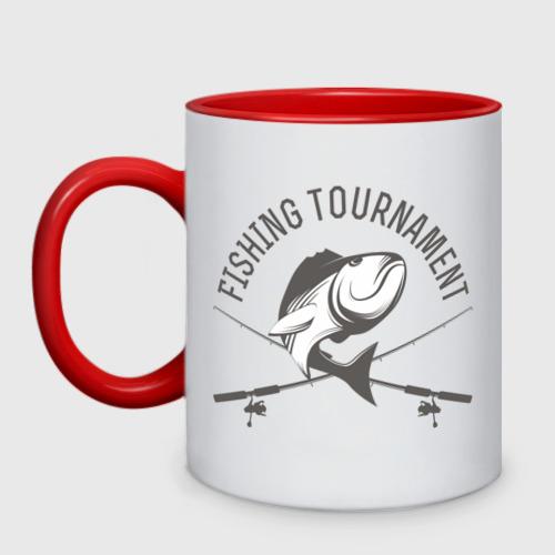 Кружка двухцветная Турнир по рыбалке