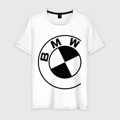 Мужская футболка хлопок Бмв значок