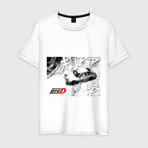 Мужская футболка хлопок Initial D машина