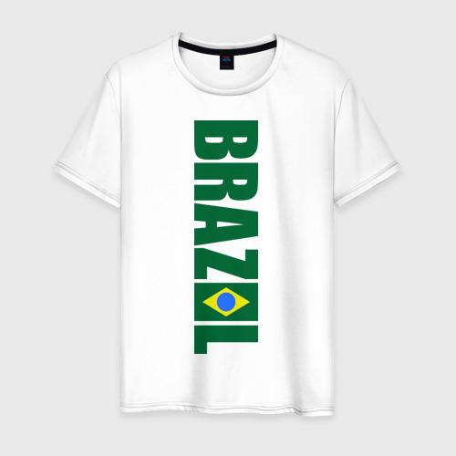 Мужская футболка хлопок Футбол Бразилия