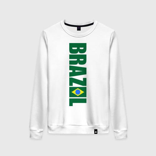 Женский свитшот хлопок Футбол Бразилия