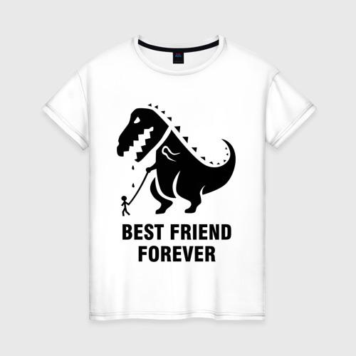 Женская футболка хлопок Годзилла Best friend